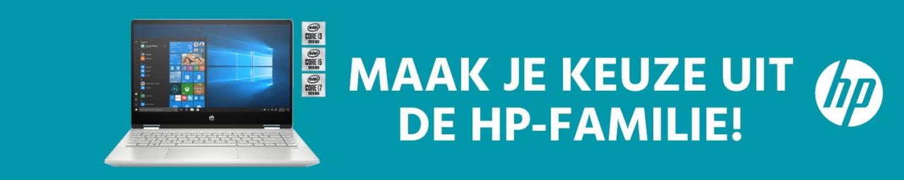 Maak je keuze uit de HP-familie