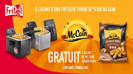 Fritel - Sachet de McCain Potato Pops gratuit