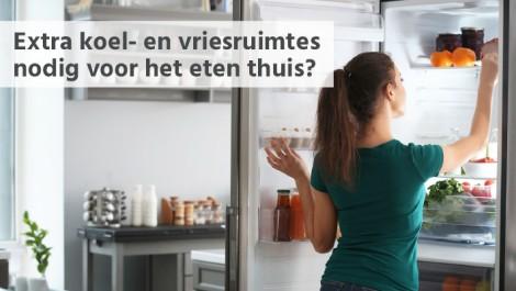Extra koel- en vriesruimtes nodig voor het eten thuis?