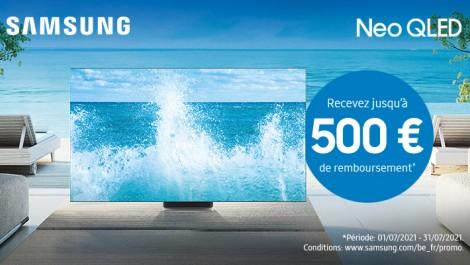 Samsung Neo QLED Recevez jusqu'à 500 € de remboursement
