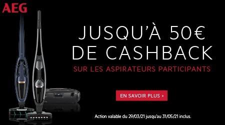 AEG - Jusquà €50 cashback