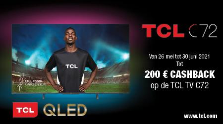 TCL TV C72+ - Tot €200 cashback