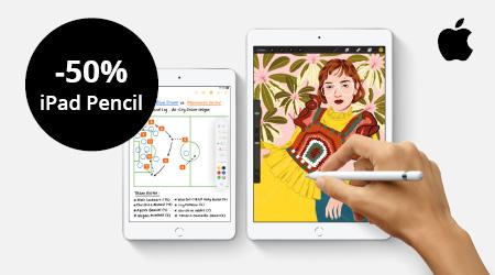 Apple - 50% korting op iPad Pencil!