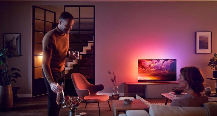 Philips UHD OLED 55OLED85412 in de woonkamer